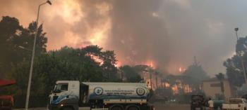 MUSKİ'den Yangınlara Karşı Destek