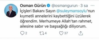 Bakan Soylu'ya CHP'den 'Üst düzey' Taziye Mesaji