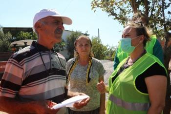 Bodrum Belediyesi hasar tespit komisyonu yangın bölgesinde