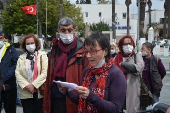 Bodrum'da doğalgaz istemiyoruz eylemi