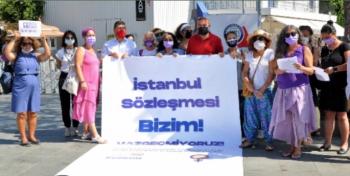 Bodrum'da İstanbul Sözleşmesi feshi kararına karşı eylem yapıldı
