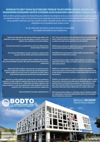 BODTO Başkanı işletmelere destek istiyor