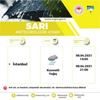 Meteoroloji'den peş peşe kuvvetli yağış ve fırtına uyarısı