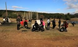 Üniversite öğrencileri, Karaağaç Göleti çevresini temizledi