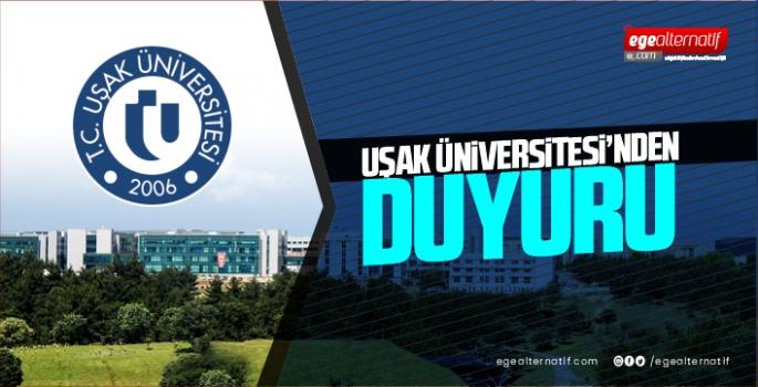 Uşak Üniversitesi2020-2021Bahar Dönemi Eğitim-Öğretim Modelduyurusunu yaptı