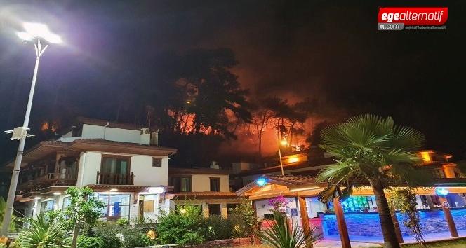 Akyaka'daki orman yangını korkuttu!