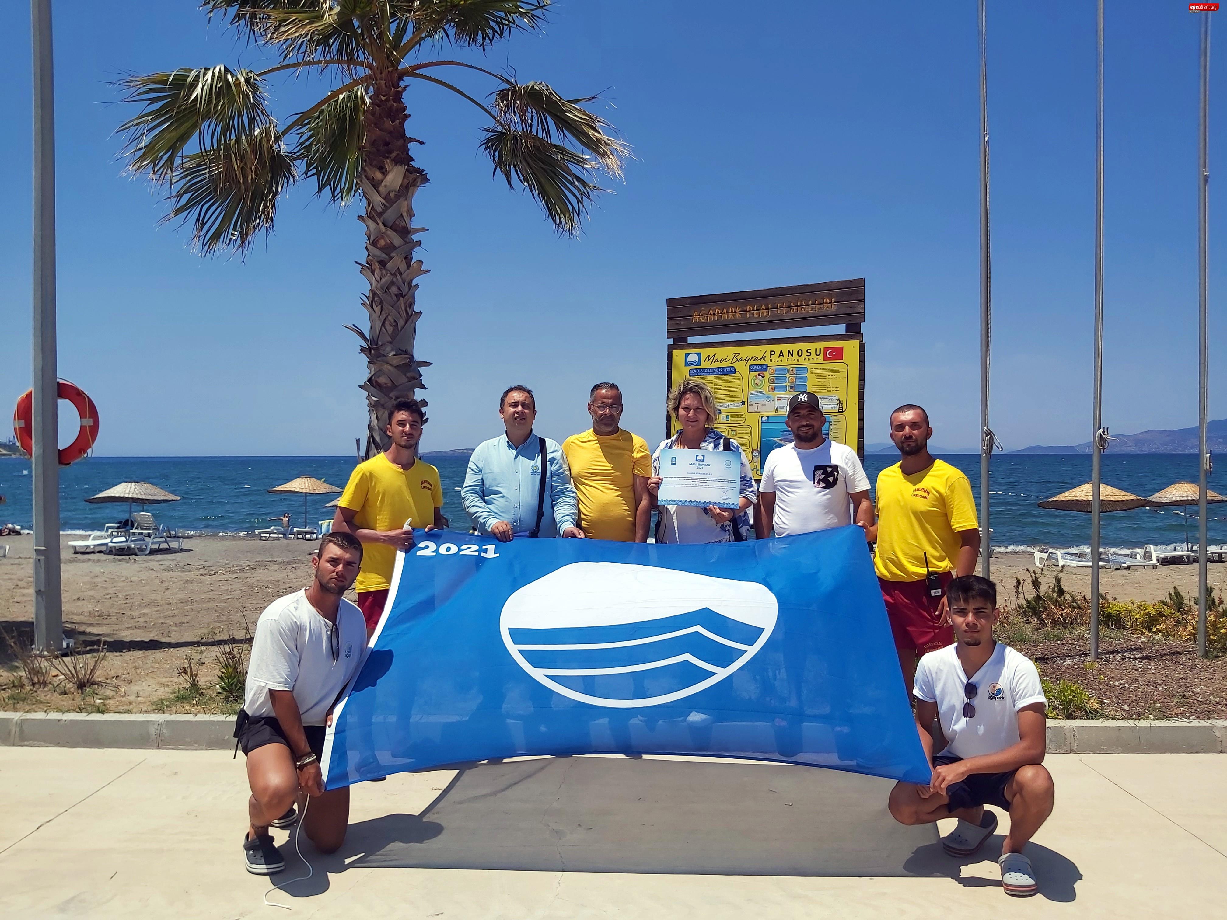 Aliağa Ağapark Plajı 5.Kez Mavi Bayrak İle Taçlandırıldı