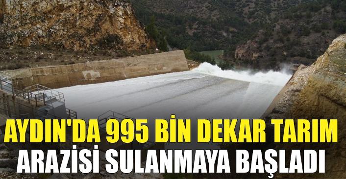 Aydın'da 995 bin dekar tarım arazisi sulanmaya başladı