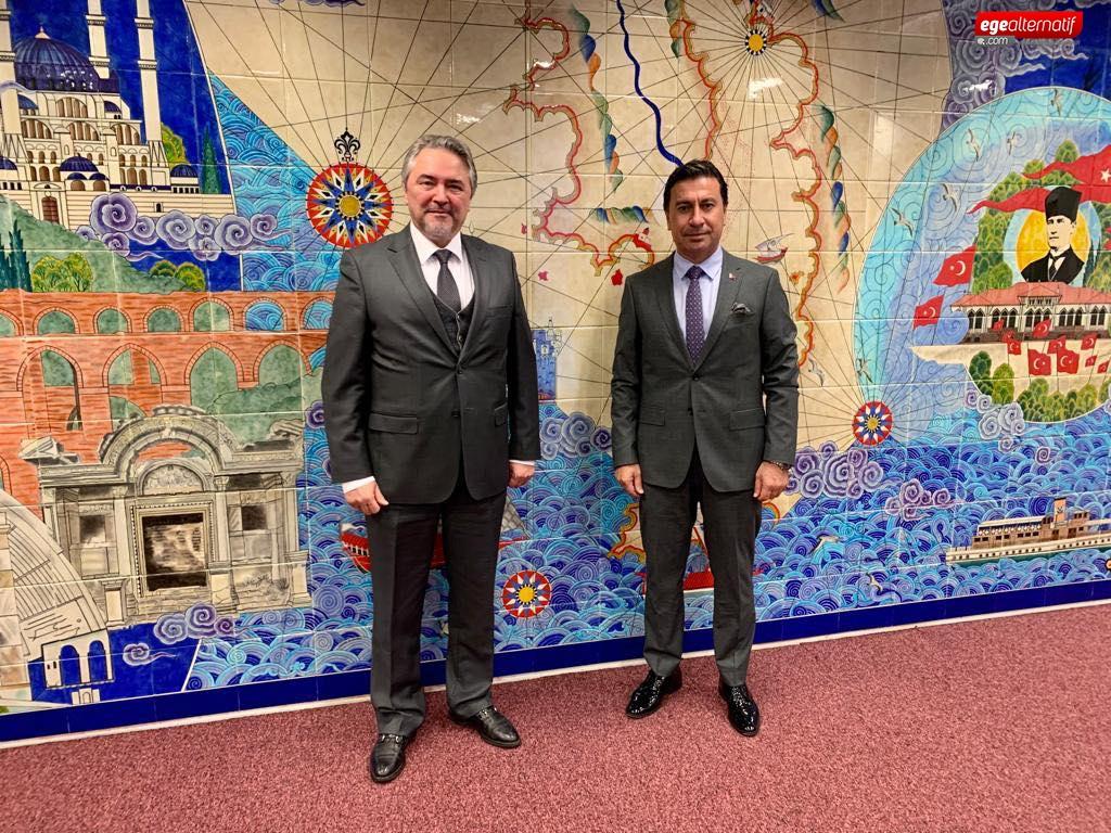 Başkan Aras'ın Avrupa'daki temasları sürüyor
