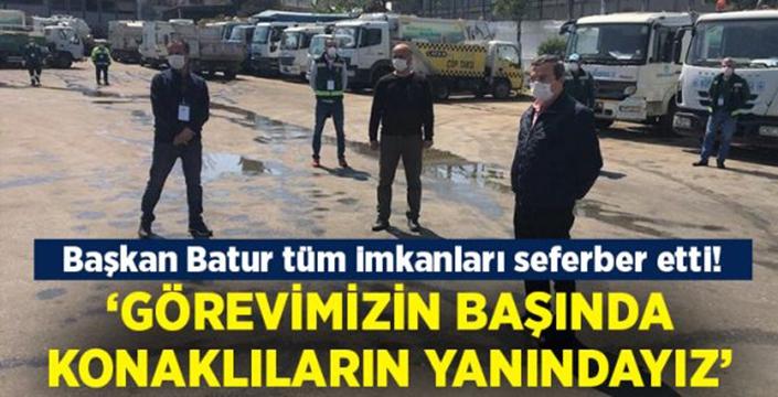 """Başkan Batur: """"Görevimizin başında, Konaklıların yanındayız"""""""