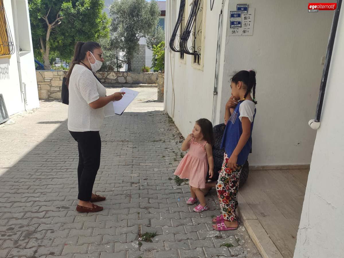 Bodrum Belediyesi, kapı kapı dolaşmaya devam ediyor
