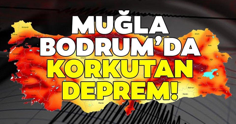 Bodrum'da deprem meydana geldi!