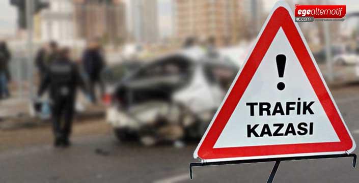 Bodrum'da feci kaza! Kamyon otomobili ezdi!