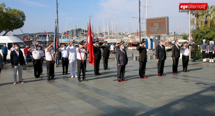 Bodrum'da Gaziler Günü Törenle Kutlandı