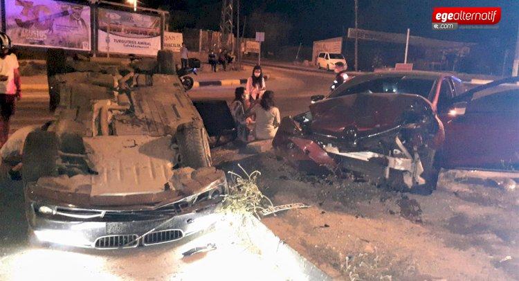 Bodrum'da trafik kazası: çok sayıda yaralı var