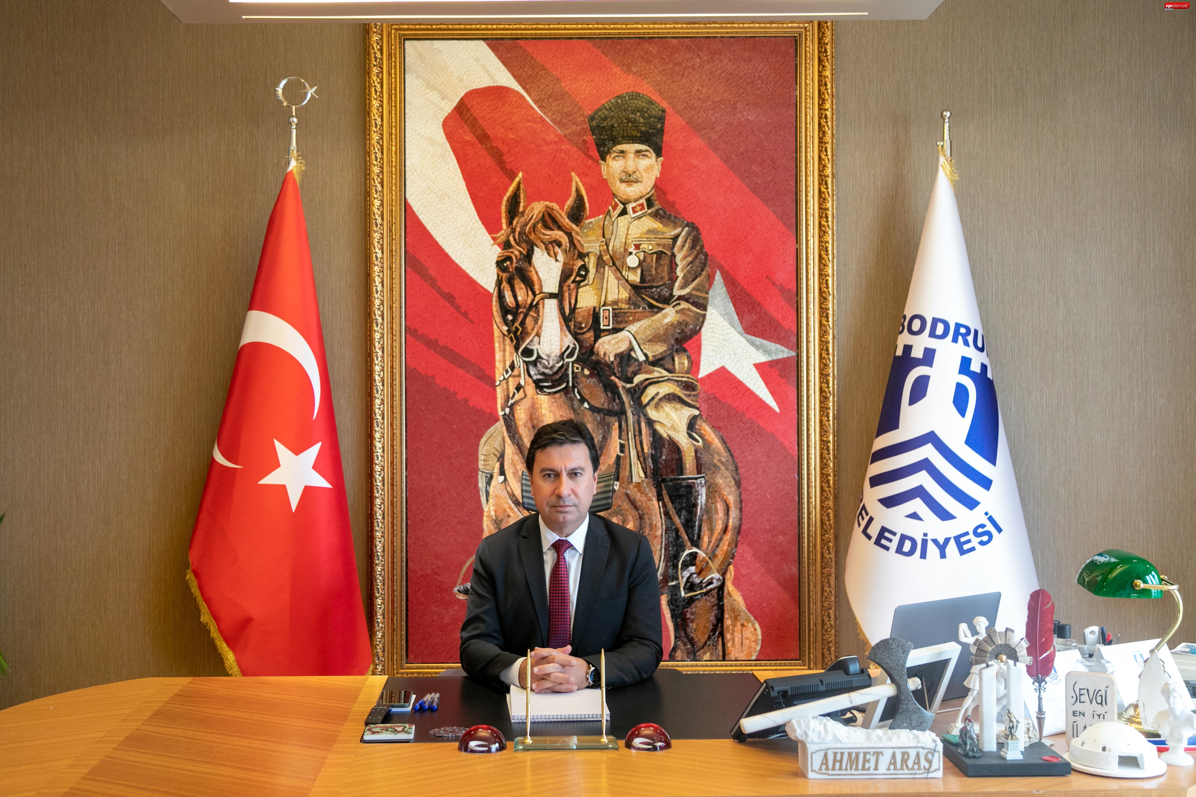 Başkan Aras Net Konuştu: :Yalıkavak'ta yol da  yapamazsınız alt yapı da yapamazsınız!