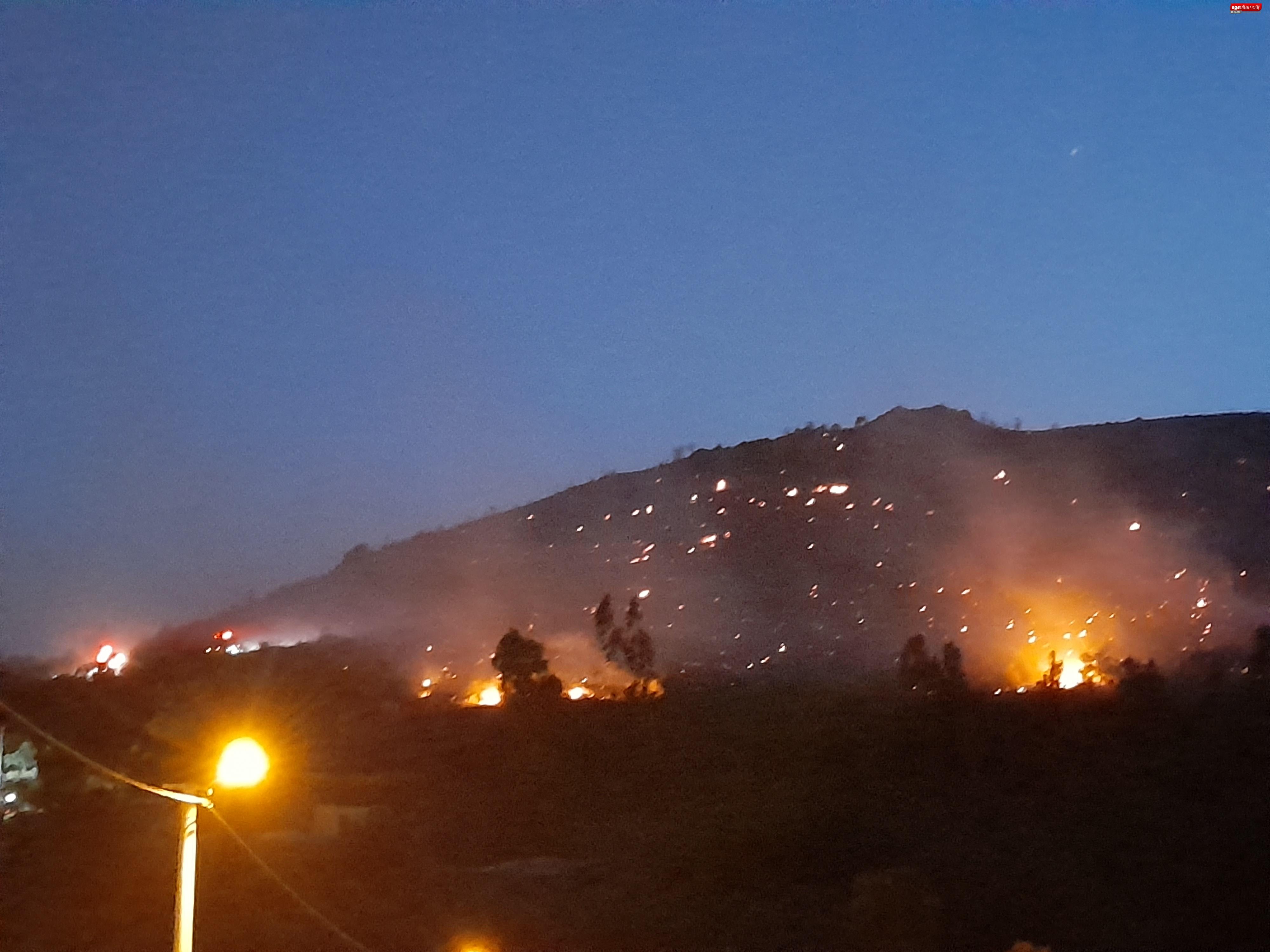 Bodrum Dereköy'deki yangın yerleşim yerine dayandı