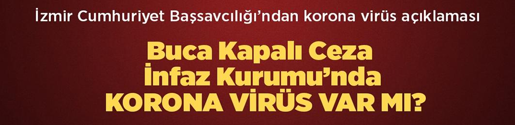 Buca Kapalı Ceza İnfaz Kurumu'nda kkorona virüs var mı?