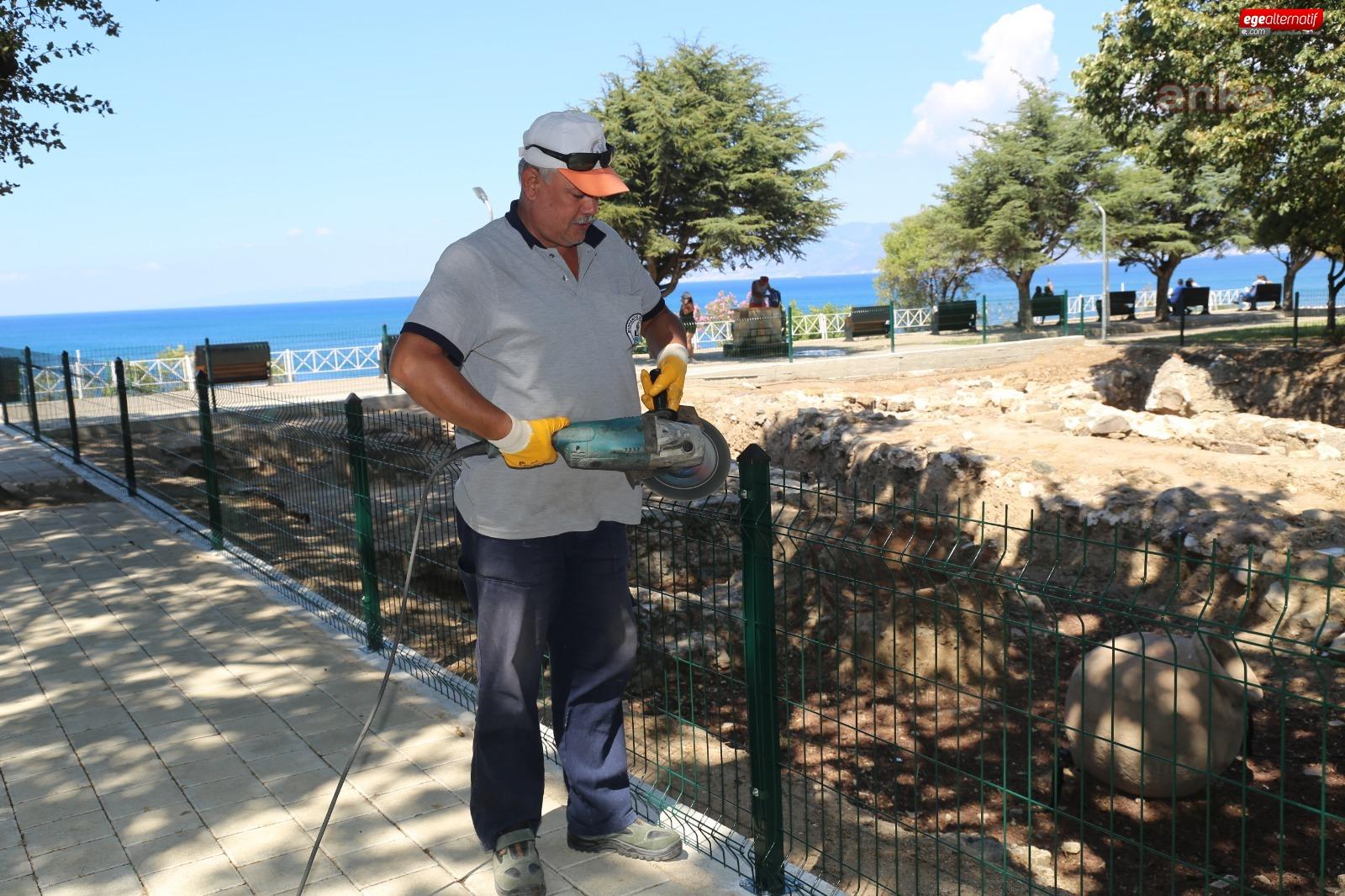 Burhaniye Belediyesi Ören Kazı alanını yeniledi