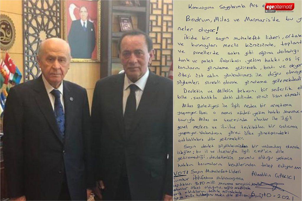 Çakıcı CHP'li Milas ve BodrumBelediyelerini hükümete şikâyet etti!