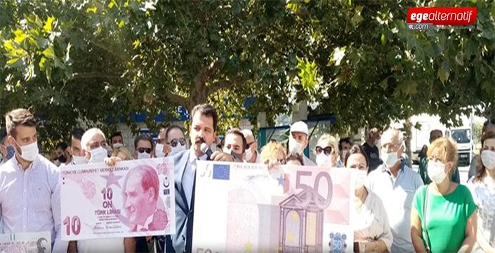 CHP'den kur protestosu: 'Ekonomi Otobüsü uçurumda'