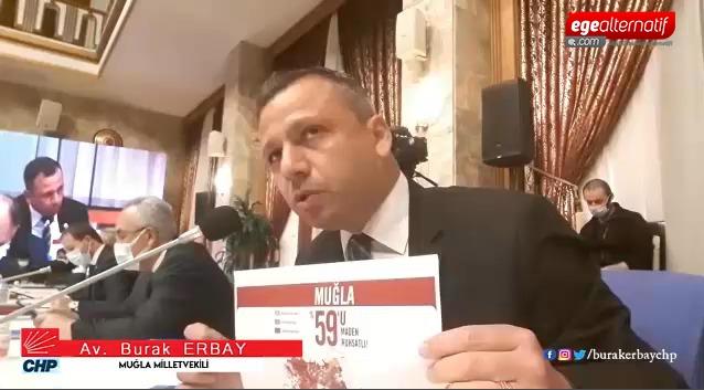 CHP'li Erbay Muğla'yı Bakan'a sordu!