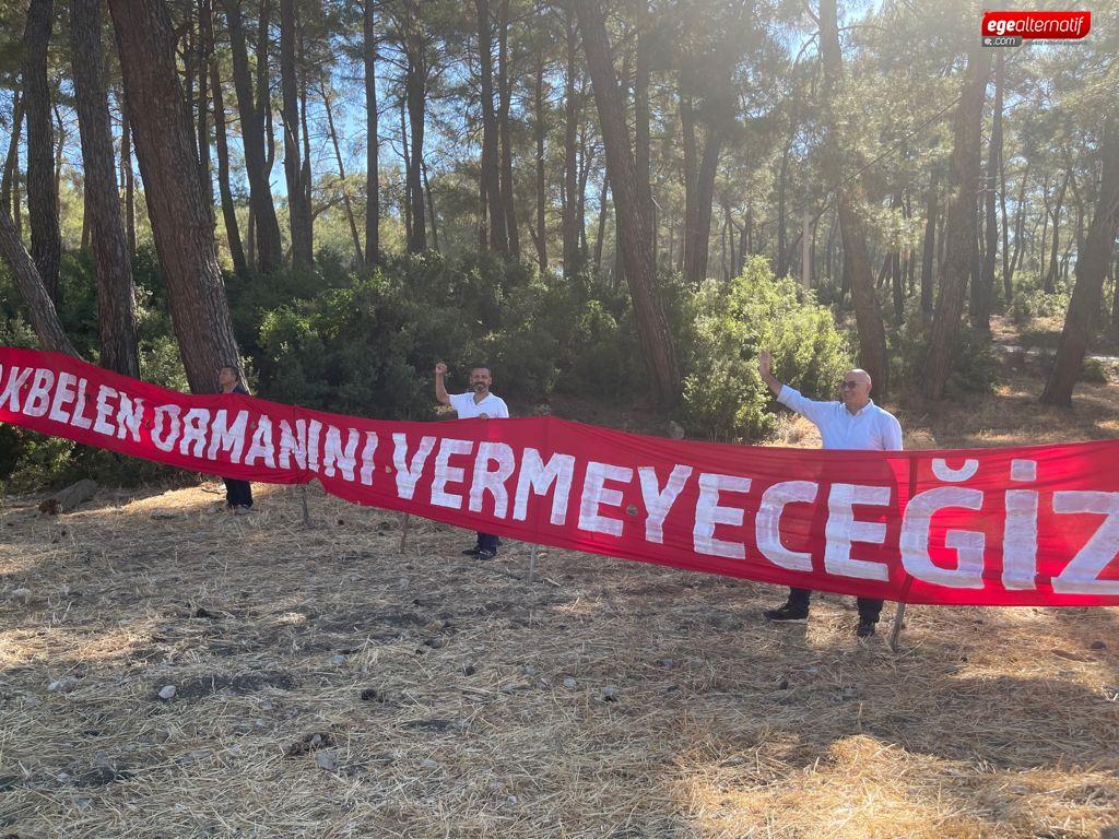 CHP'li Erbay Kurban Bayramı'nı Akbelen direniş nöbetinde vatandaşlarla karşıladı