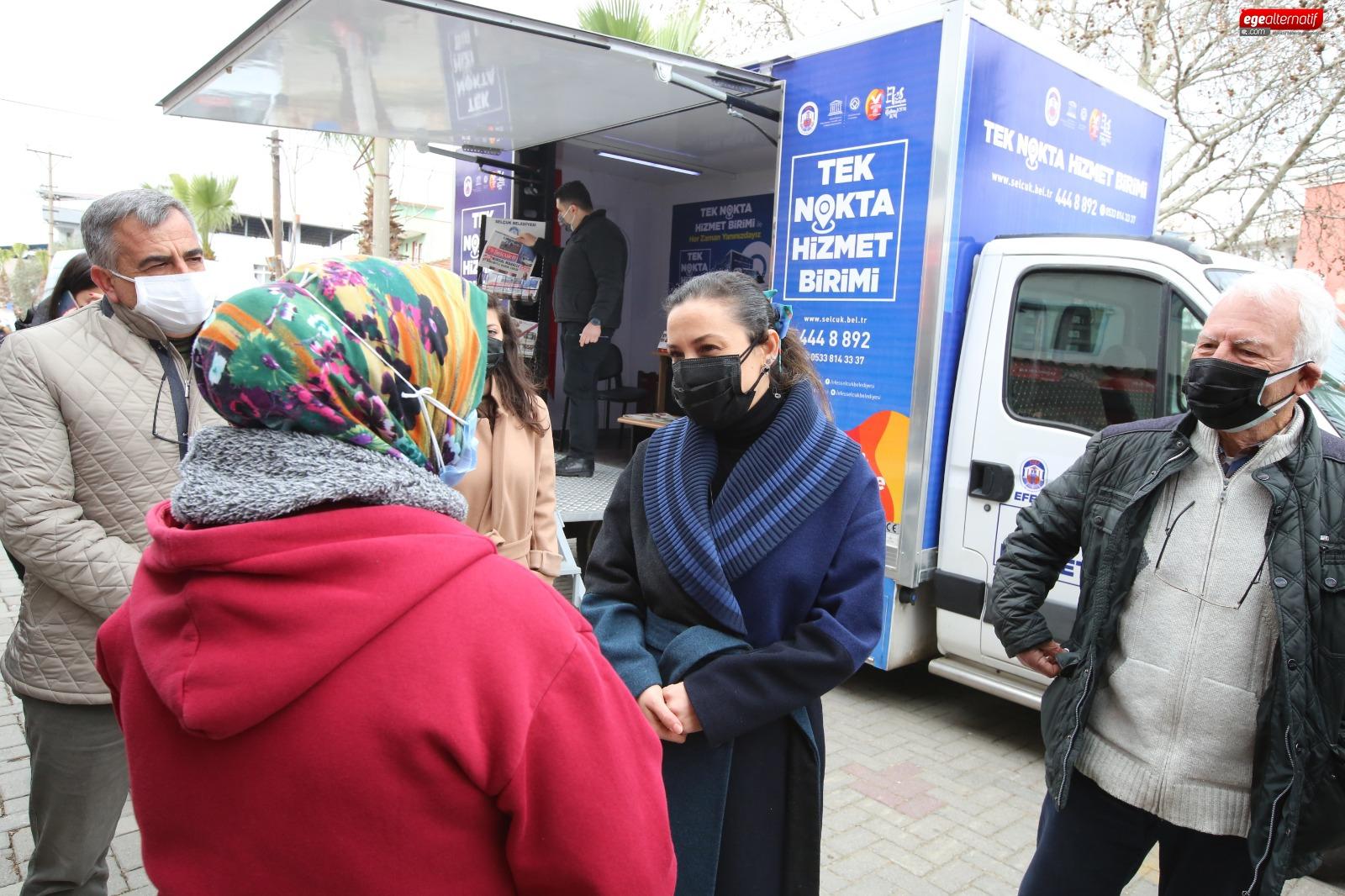 Efes Selçuk Belediyesi tek nokta hizmet aracı yola çıktı!