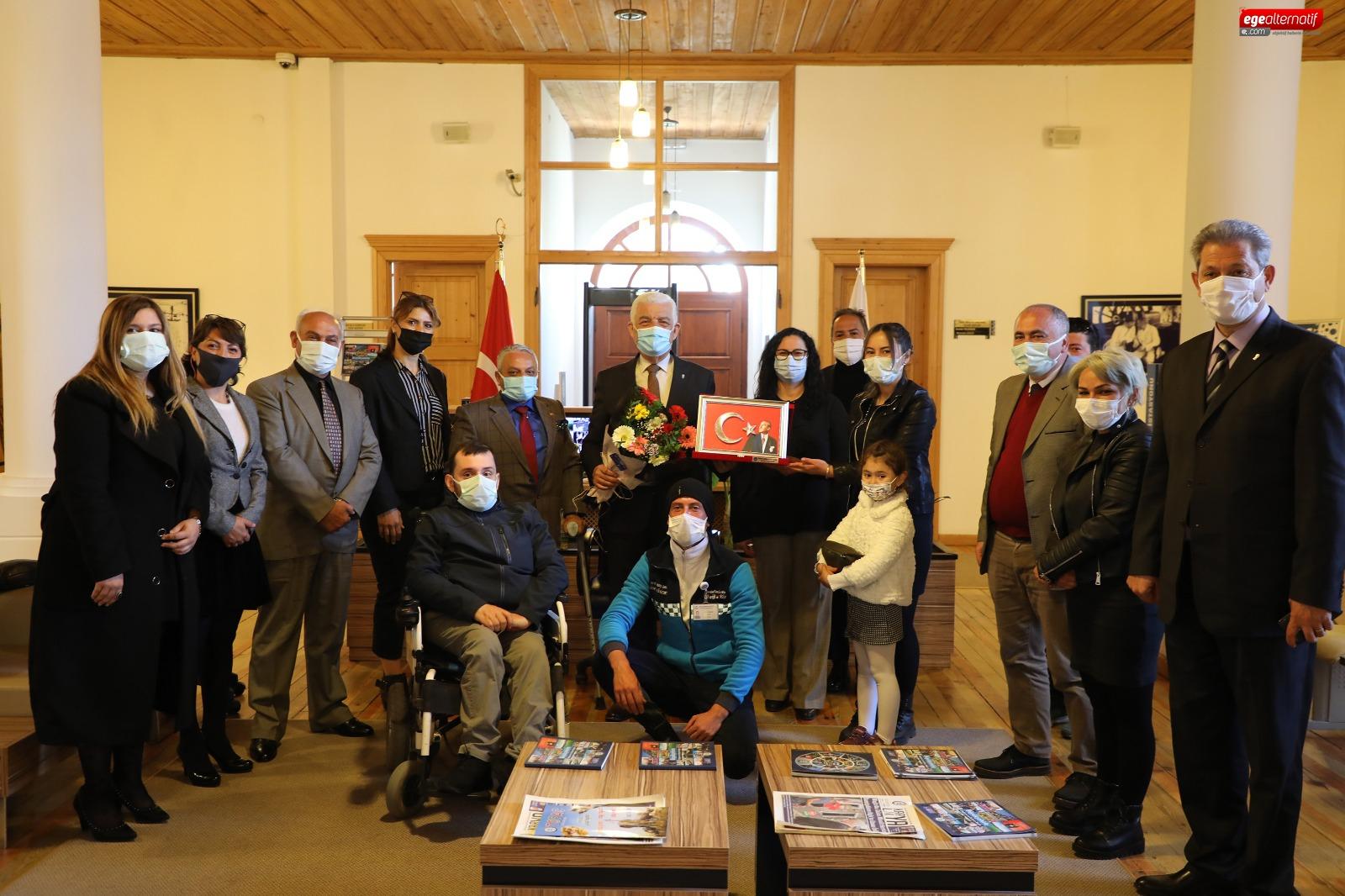Engelli ve Aileleri Birliği Derneği'nden Başkan Gürün'e Ziyaret