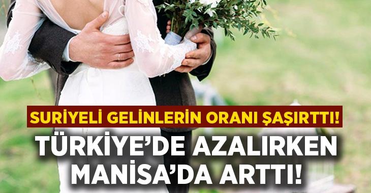 Evlilik oranları Manisa'da arttı!