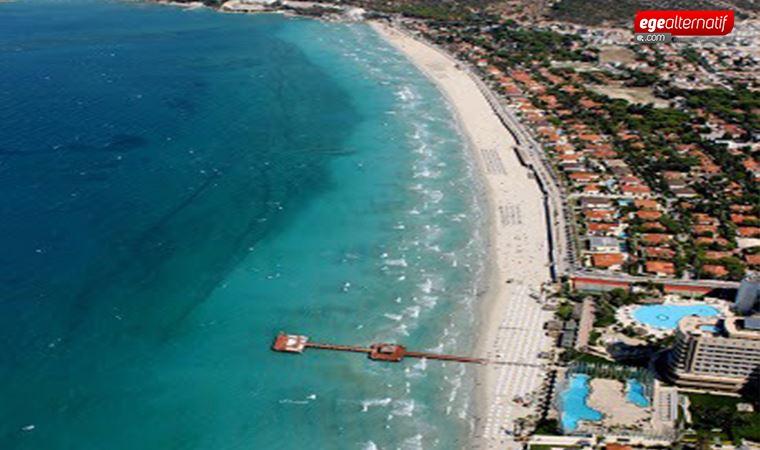 Ilıca Plajı'na 'Mavi Bayrak' ve 'Turuncu Çember' sertifikası