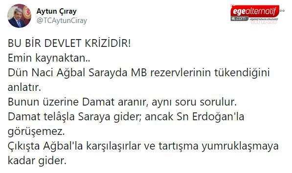 İyi Partili Çıray'dan Berat Albayrak iddiası: Naci Ağbal ile yumruklaştılar