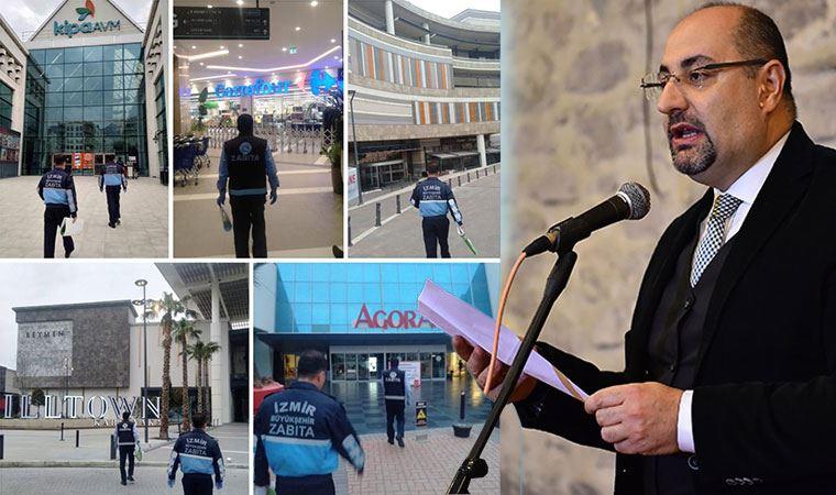 İzmir'de tüm AVM'ler kapandı