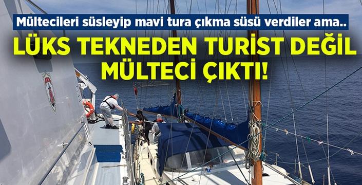 Lüks tekneden turist değil mülteci çıktı!