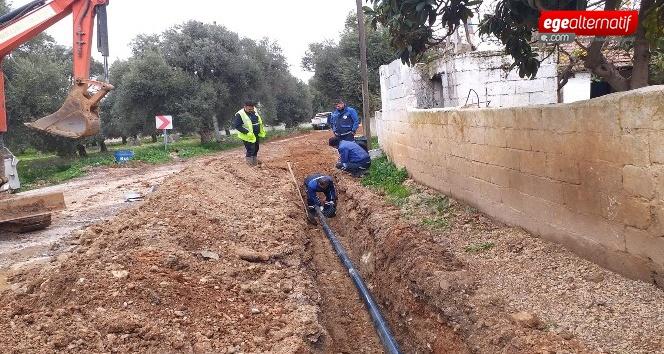 Milas Beçin'de içme suyu hatları yenileniyor