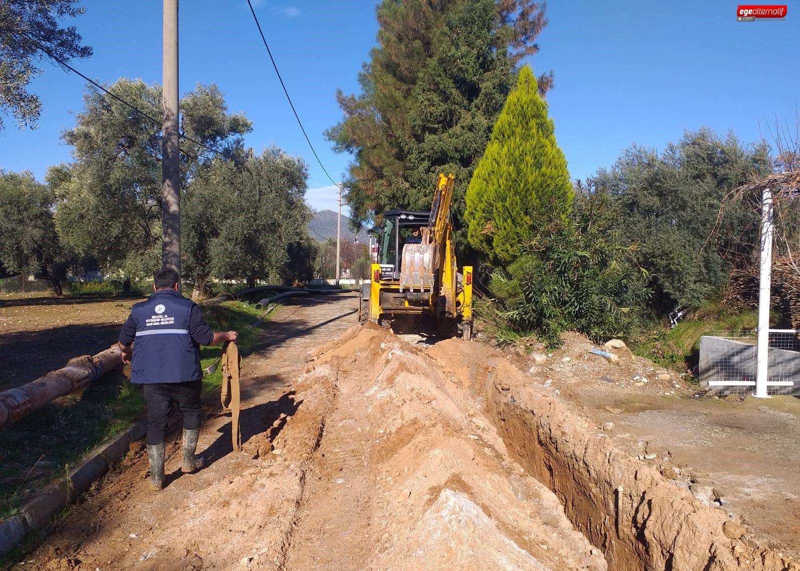 Milas'ta Bin 200 Metre İçme Suyu Hattı Yenilendi