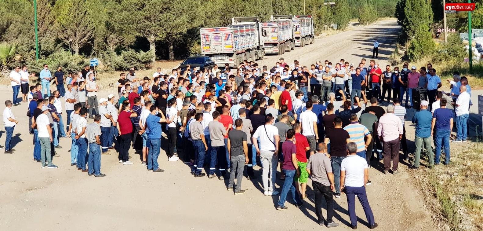 Muğlalı işçilerden üztersiz izin eylemi!