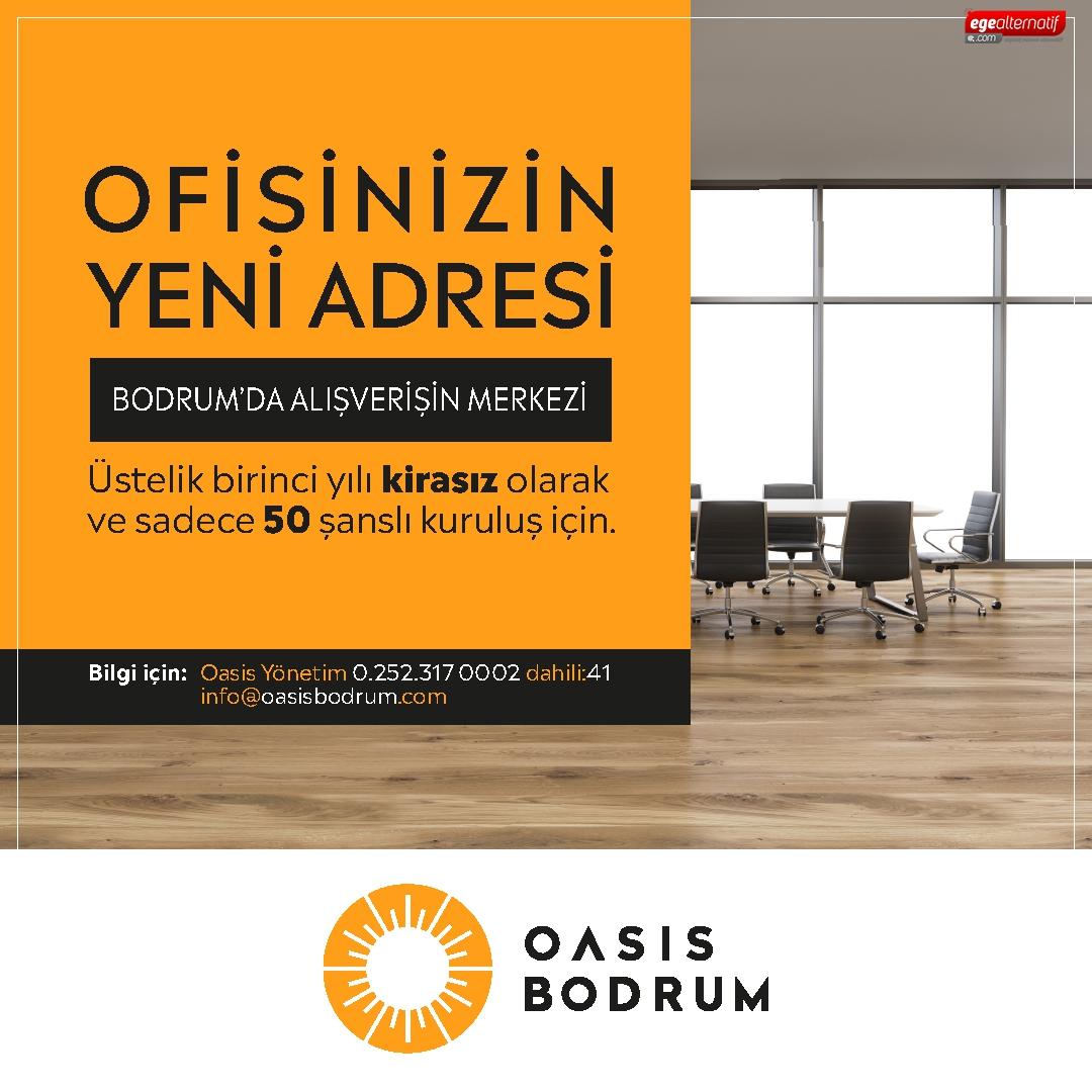 OASİS Bodrum'dan işlk yıl kirasiz ofis projesi!