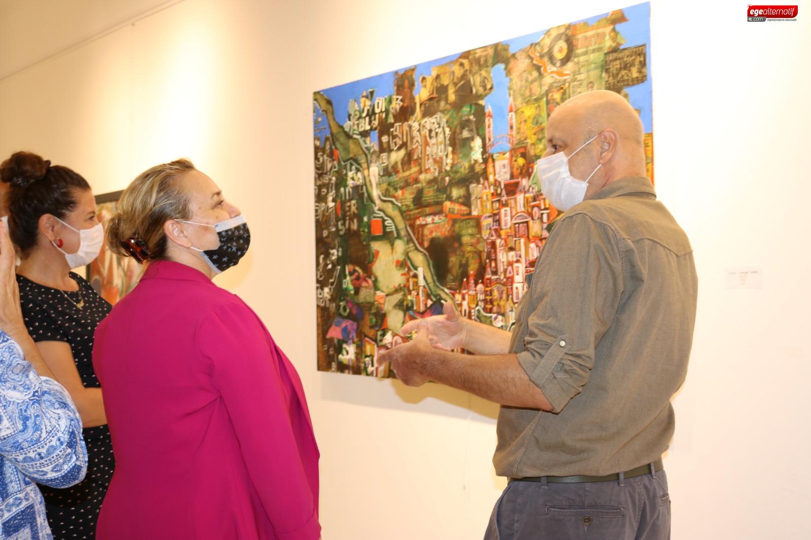 Ressam Mirel Anlatamadıklarını Tuvale Döktü