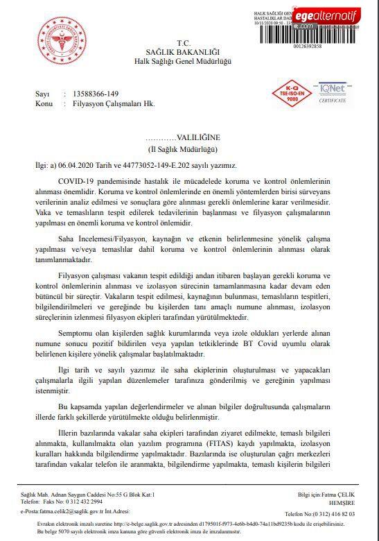 Sağlık Bakanlığı'ndan yeni koronavirüs genelgesi