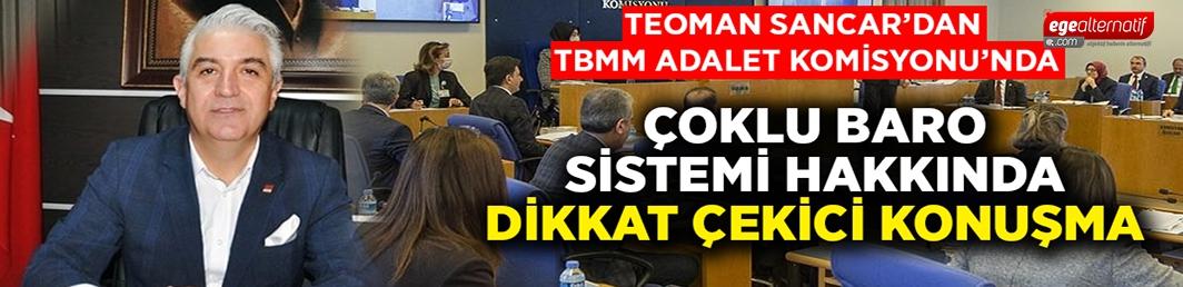 TBMM Adalet Komisyonu'nda çoklu baro sistemi hakkında dikkat çekici konuşma