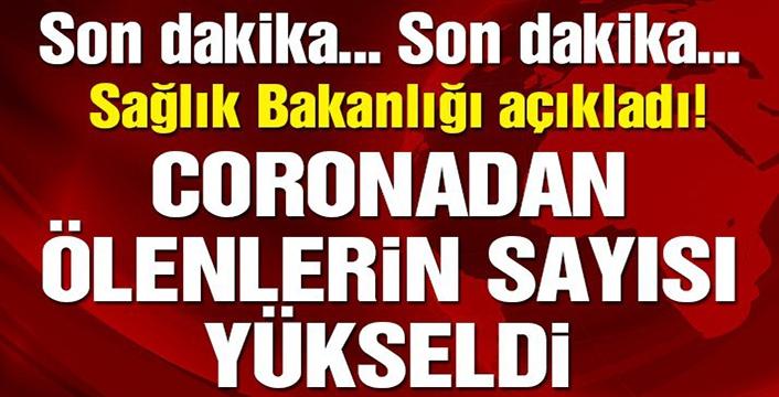 Türkiye'de koronavirüsten hayatını kaybeden sayısı 725 oldu