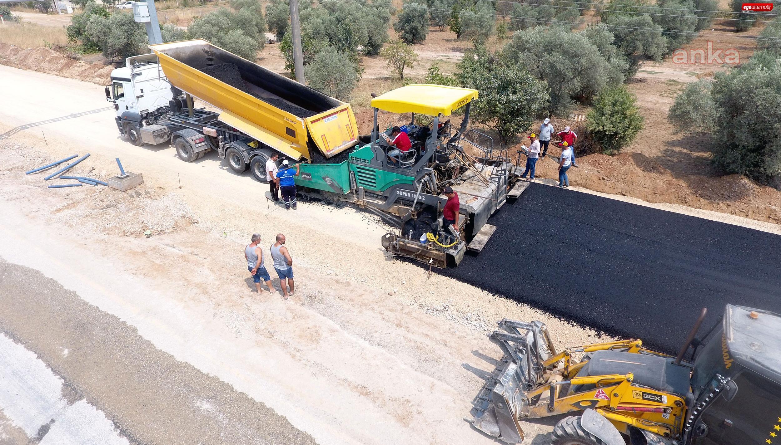 Ula'da sıcak asfalt kaplaması çalışmaları başladı