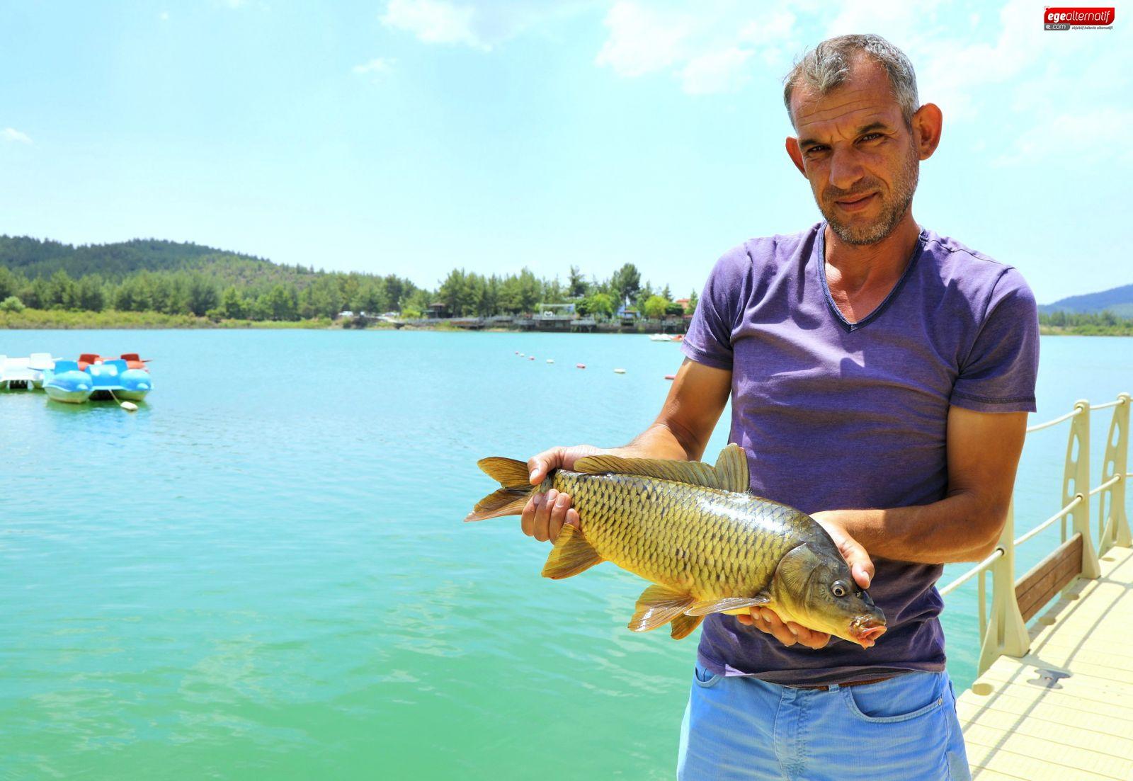 Ula göletinde sazan turizmi başlatıldı