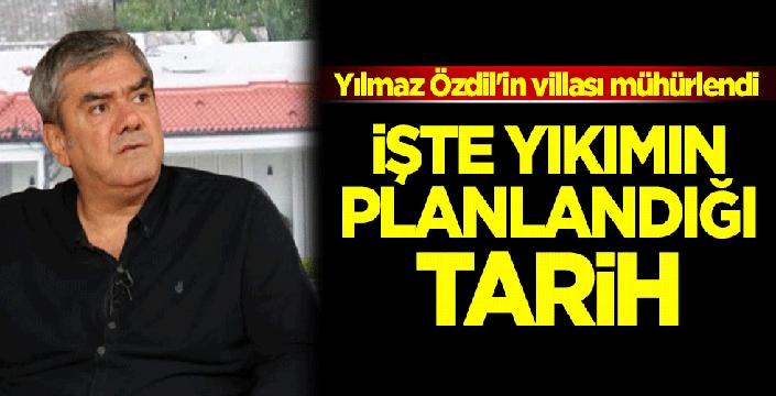 Yılmaz Özdil'in Bodrum'daki villası mühürlendi